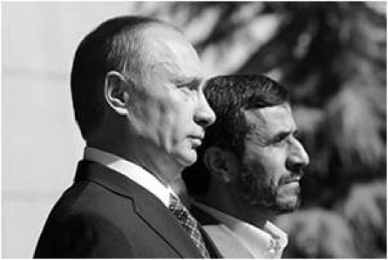 Putin and Ahmadinejad in 2007