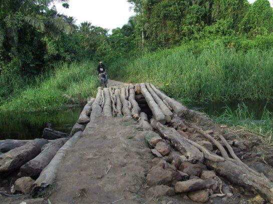 A bridge in the DRC